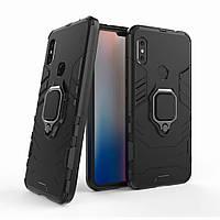 Чехол Iron Ring для Xiaomi Mi A2 Lite / Redmi 6 Pro бронированный бампер Броня Black, фото 1