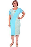 Яркое женское платье  качественного пошива больших размеров