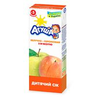 """Сок детский с мякотью """"Яблочно-персиковый"""" Агуша, 200мл от 5 мес."""