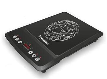 Электроплита индукционная стеклокерамическая настольная Besser 10213 2000W Black