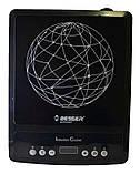 Электроплита индукционная стеклокерамическая настольная Besser 10213 2000W Black, фото 4