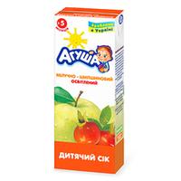 """Сок детский осветленный """"Яблочно-шиповниковый"""" Агуша, 200мл от 3 мес."""