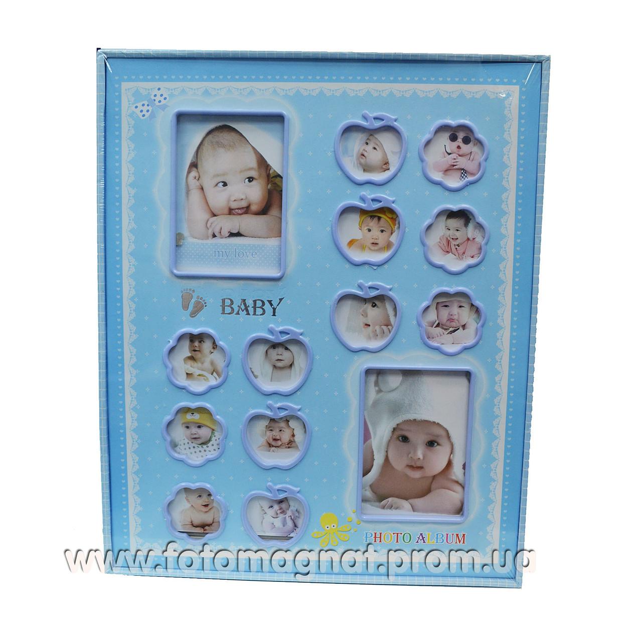 Фотоальбом Для детей (детский альбом) 240/10х15см.Анкета на русском языке 4 стр.
