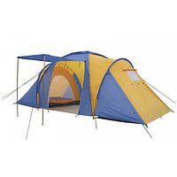 Палатка кемпинговая 4-х местная 2-х комн с тентом и тамбуром FAMILY