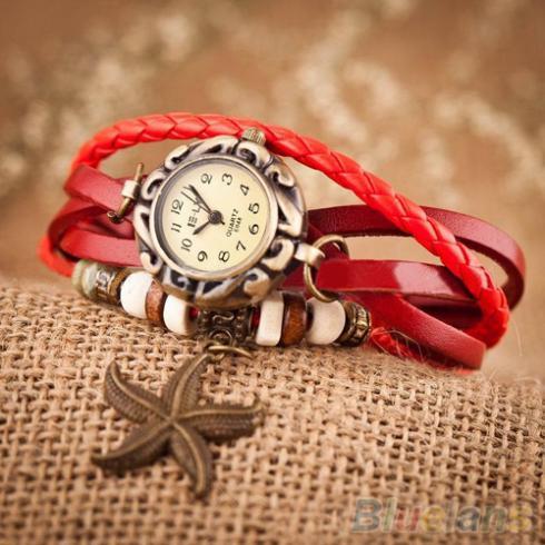 Неотразимые женские винтажные часы Red