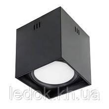 """Светильник  накладной квадрат.""""SANDRA-SQ10/XL"""" 10W 4200K черный, белый"""