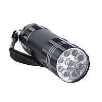 Фонарик карманный 9 LED, фото 1