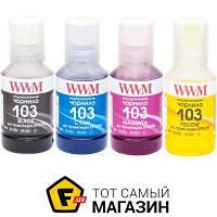 WWM Epson L3100/3110/3150, B/C/M/Y, 4х140г (E103SET4) набор чернил для l1110, l3100, l3100, l3101, l3110, l3150, l3150, l3151, l5190