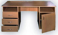Стол письменный с 3-мя ящиками и тумбой
