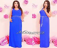 Платье в пол Италия (размеры 46-54)