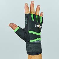 Перчатки-бинты внутренние из неопрена мужские MAXXMM (р-р S-XL, черный-салатовый). Распродажа!