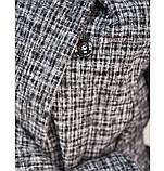 Кардиган теплый,вязаный №41119-серый, фото 4