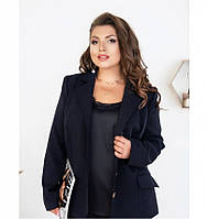 Пиджак классический однобортный №8-180-синий, фото 1