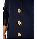 Пиджак классический однобортный №8-180-синий, фото 3