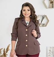 Пиджак кассический однобортный №8-180-какао, фото 1