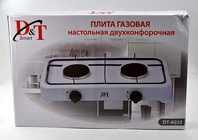 Настольная газовая плита таганок D&T Smart 6032 на 2 конфорки, фото 3