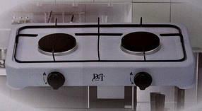 Настольная газовая плита таганок D&T Smart 6032 на 2 конфорки, фото 2