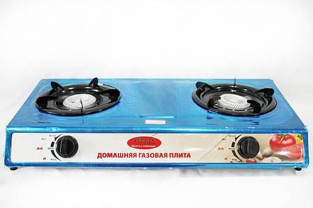 Настольная газовая плита таганок Wimpex WX 1102 на 2 конфорки, фото 2