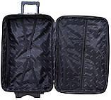 Дорожный чемодан на колесах тканевый Bonro Style средний черный, фото 3