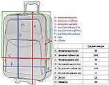 Дорожный чемодан на колесах тканевый Bonro Style средний черный, фото 4