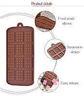 Силиконовая форма для шоколада Шоколадная плитка мини