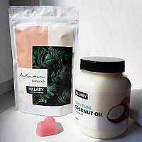 Набор косметики Hillary. Кокосовое масло рафинированное, 500мл, Скраб для тела Autumn и Мылко R132699