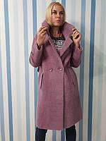 Женское осеннее пальто из шерсти альпака, фото 1