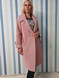 Женское осеннее пальто из шерсти альпака, фото 6