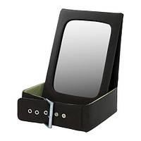 BETRAKTA Настольное зеркало с отделен д/хран, черный, зеленый