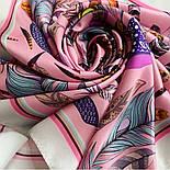 Платок шелковый (атлас) 10077-3, павлопосадский платок (атлас) шелковый с подрубкой, фото 7