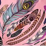 Платок шелковый (атлас) 10077-3, павлопосадский платок (атлас) шелковый с подрубкой, фото 3