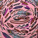 Платок шелковый (атлас) 10077-3, павлопосадский платок (атлас) шелковый с подрубкой, фото 5