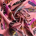 Платок шелковый (атлас) 10077-3, павлопосадский платок (атлас) шелковый с подрубкой, фото 6