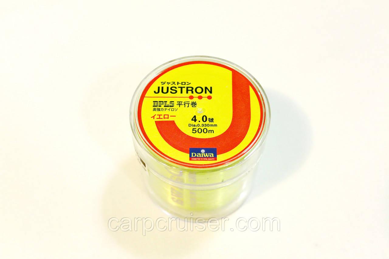 Лескa Daiwa Justron 0.33 мм тест 11 кг флуоресцентная, намотка 500м