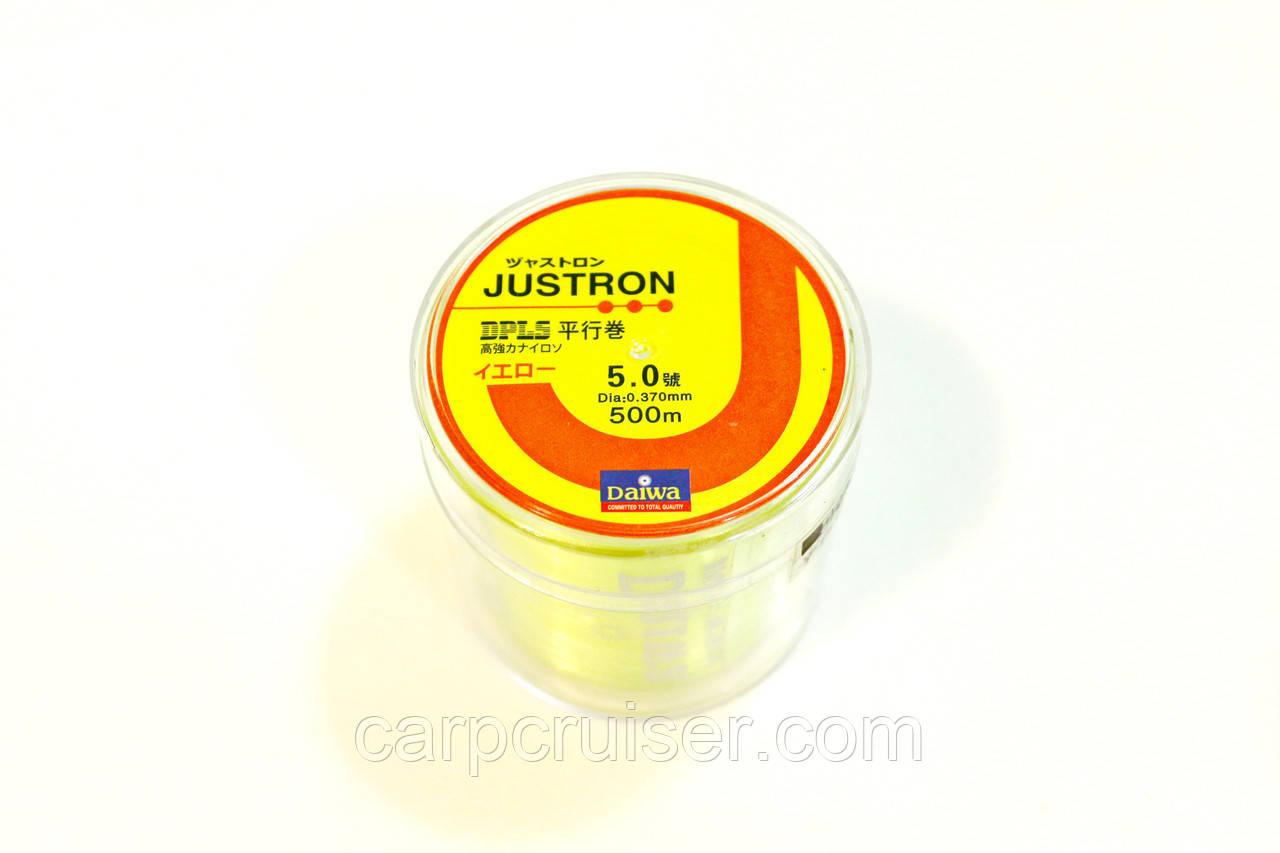Лескa Daiwa Justron 0.37 мм тест 11.7 кг  флуоресцентная, намотка 500м