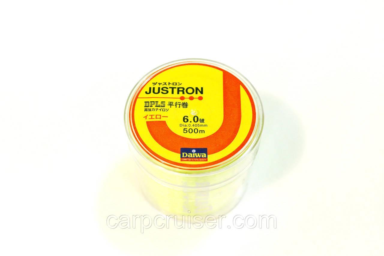 Лескa Daiwa Justron 0.40 мм тест 13.3 кг  флуоресцентная, намотка 500м