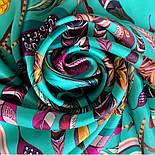 Платок шелковый (атлас)10077-9, павлопосадский платок (атлас) шелковый с подрубкой, фото 6