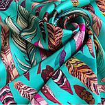 Платок шелковый (атлас)10077-9, павлопосадский платок (атлас) шелковый с подрубкой, фото 7