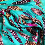 Платок шелковый (атлас)10077-9, павлопосадский платок (атлас) шелковый с подрубкой, фото 5
