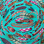 Платок шелковый (атлас)10077-9, павлопосадский платок (атлас) шелковый с подрубкой, фото 4