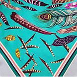 Платок шелковый (атлас)10077-9, павлопосадский платок (атлас) шелковый с подрубкой, фото 3