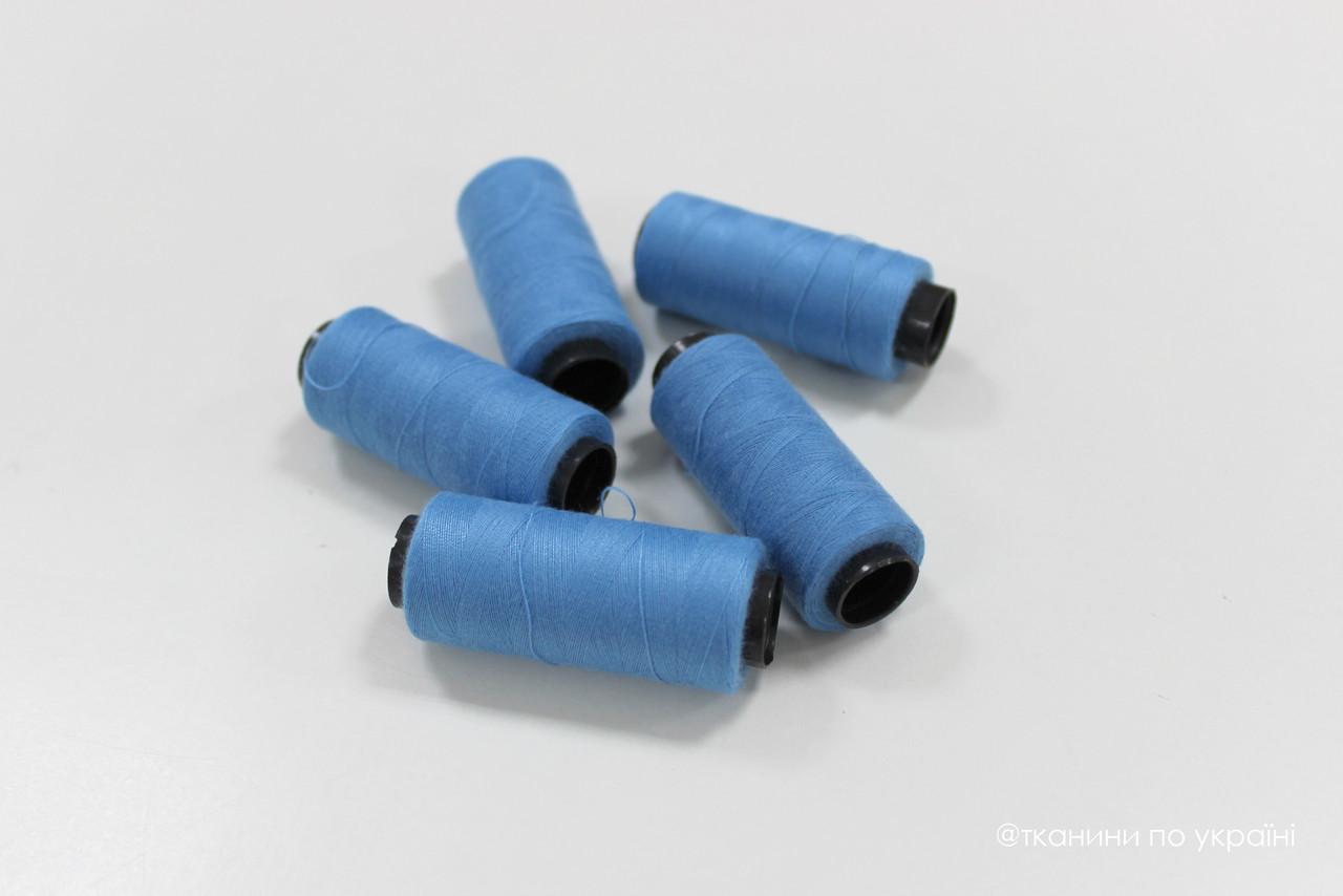 Нитки швейные 42/2, 250 м, голубой