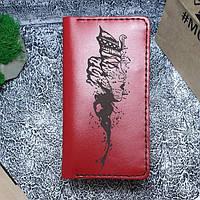 Женский кожаный кошелек Клеопатра красный, фото 1