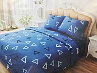Комплект постельного белья евро ранфорс 100% хлопок. Постільна білизна. (арт.12527)