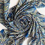 Фергана 1856-14, павлопосадский платок из вискозы с подрубкой, фото 7