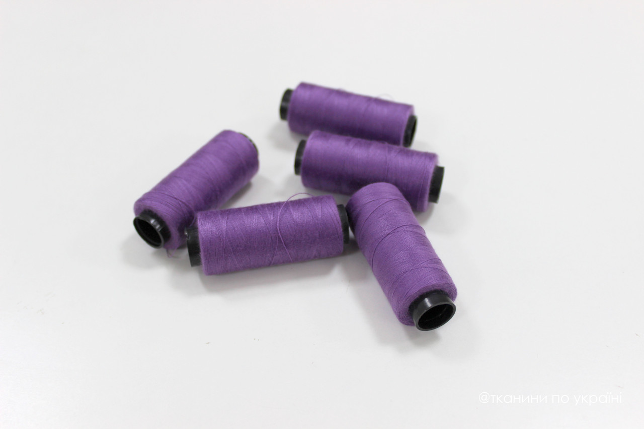 Нитки швейные 42/2, 250 м, фиолетовый