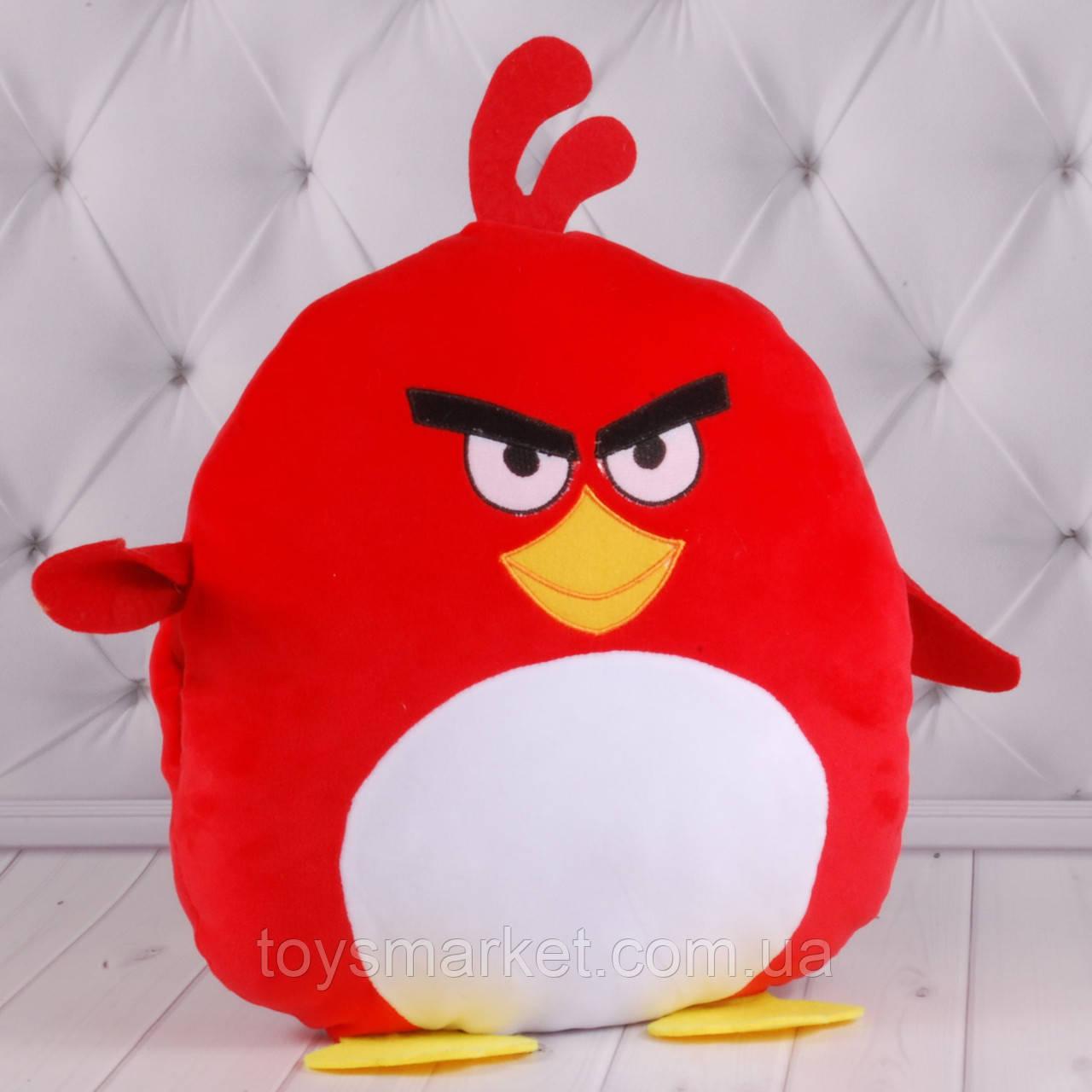 """Дитяча подушка-муфта """"Angry Birds"""" Ред, плюшева подушка з пташками, подушка-муфта, """"Енгрі Бердс"""""""