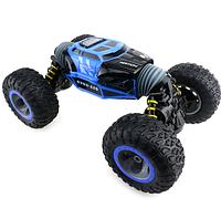 Трюковая машина перевертыш Hyper Big Foot 34 см на пульте управления синяя