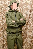 Ветровочный тактический костюм (маскхалат) ХАКИ из палаточного полотна (про-во Украина)