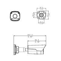 4 Мп уличная IP видеокамера Uniview IPC2124LR3-PF60M-D, фото 3